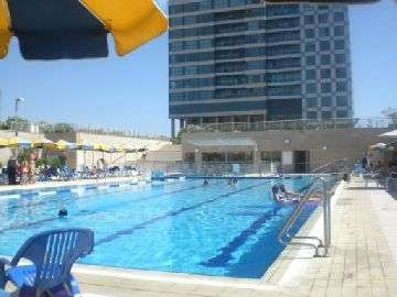 outdoor swimming pool in okyanos